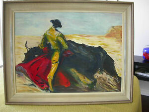 """Large Oil on Canvas """"The Toreador"""""""