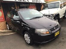 2007 Holden Barina TK MY08 Black 4 Speed Automatic Hatchback Campbelltown Campbelltown Area Preview