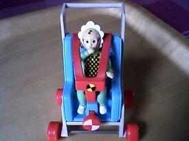 SKID THE KID (BABY IN SEAT/PUSHCHAIR) - THE ORIGINAL CRASH TEST DUMMIES VINTAGE TOY