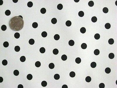 WHITE + BLACK POLKA DOT KITCHEN PATIO DINING OILCLOTH VINYL TABLECLOTH 48x48 NEW](Polka Dot Tablecloths)