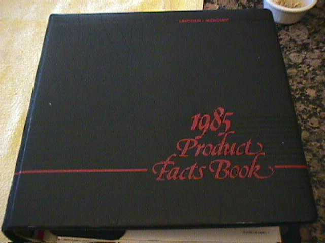 SCARCE 1985 LINCOLN AND MERCURY DEALER PRODUCTS FACTS BOOK