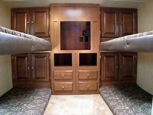 I'm looking for a camping trailer with bunk beds