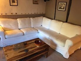 Blekinge White Ikea Ektorp Corner Sofa covers - not new!