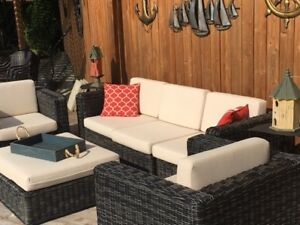 Resin wicker patio furniture set