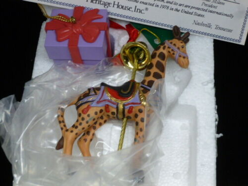 Pull String Music Box Giraffe Hanging Ornament Heritage House Plays The Sting