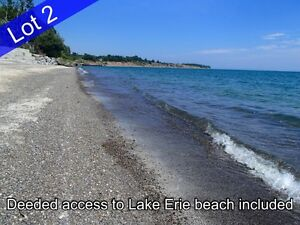 115' x 290' Lot #2 at Lake Erie, Dunnville w/deeded water access