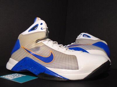 cb636ef54b85 2009 Nike HYPERDUNK WHITE ROYAL BLUE ORANGE BURST BLACK NEW YORK KNICKS 12