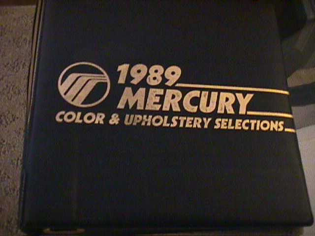 SCARCE 1989 MERCURY DEALER COLOR AND UPHOLSTERY SHOWROOM ALBUM
