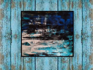 """""""BLUE"""" Painting on canvas by Canadian artist"""