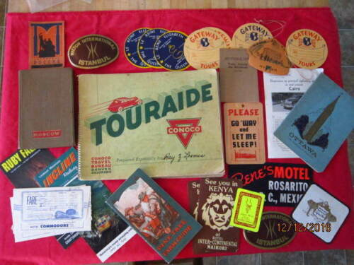 Touraide by Conoco Continental Oil Co 1937c/with add