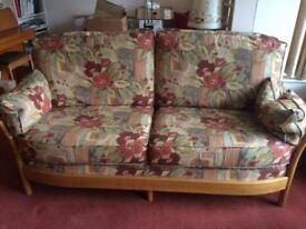 2015 ERCOL RENAISSANCE 3 SEATER SOFA & 3 EASY CHAIRS