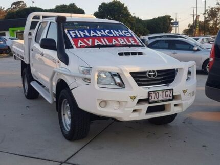 2013 Toyota Hilux KUN26R MY12 SR Double Cab White 5 Speed Manual Cab Chassis