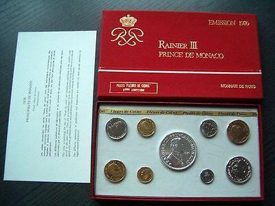 """KMS Monaco 1976 """" Rainer III. von Monaco """" - mit Silber - orig. Ausgabe/Zertif."""