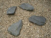 Large Pces of Grey Slate for Garden x 4,