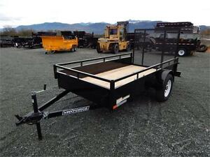 New 2017 5' x 10' long Steel Side Utility Trailer 2990LB GVW