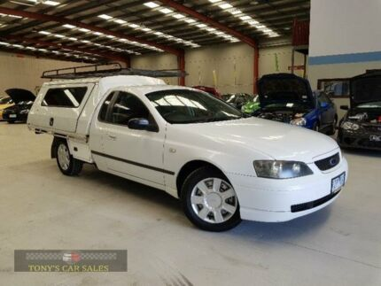 2002 Ford Falcon BA XL White Automatic Cab Chassis