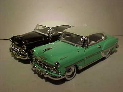 2 pack 1953 Chevy Bel Air Hard Top Diecast Car 1:24 Jada Toys 8 inch Brown Mint