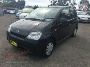 2004 Daihatsu Charade L251S Black 5 Speed Manual Hatchback Lansvale Liverpool Area Preview