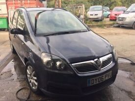 2006 Vauxhall Zafira 7 seater, starts and drives but has erratic tick over problem, trade sale due t