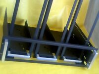 "19"" RACK CRADLE x4 FOR SOUND STUDIO CABINET. V GOOD CONDITION."