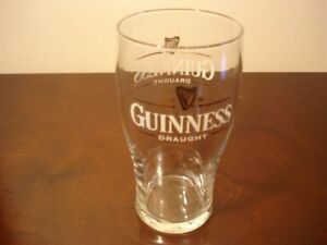 Guinness Draught Pint Beer Glass 16 oz. Great for Man Cave