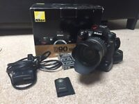 Nikon D90 DSLR with 17-50mm F2.8 Lens and Battery Grip