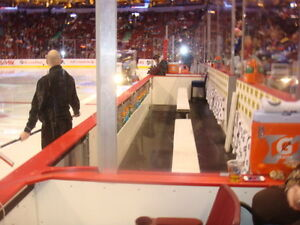 Seat Beside Canucks' Bench