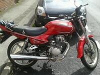 Lifan mirage 125 motorcycle.13 plate. Legal on cbt. Has Mot.