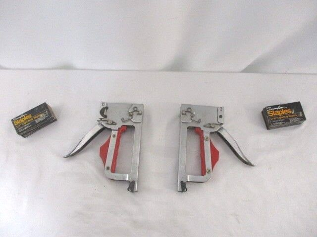 2 Vintage Duo-Fast CT-830 Manual Staple Guns