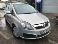 2007 Vauxhall Zafira automatic, starts and drives well, 1 years MOT, 67,000 miles, drives brilliant,