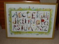 A Colourful and Fun Picture by Delphine Durand With Characters For Each Letter Of The Alphabet