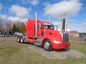 2012 PETERBILT 386, CUMMINS ISX ENGINE, SUPER 40000 REARS