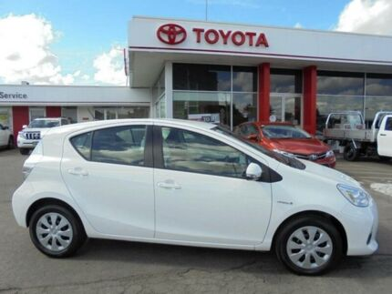 2013 Toyota Prius c NHP10R Hybrid Glacier White Continuous Variable Hatchback