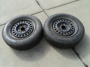 2 Motomaster Tires with Rims for Camry 205/65/15
