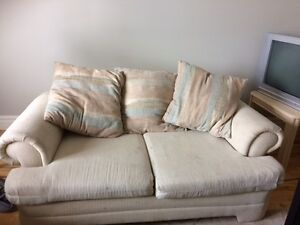 To give away, sofa and loveseat