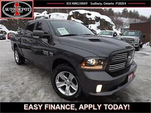 2015 Ram 1500 Sport!! 4X4!! SPORT!! CREW!! NAV!! HEATED LEATHER!