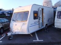 2009 Bailey Ranger GT60 FIXED BED 4 Berth Touring Caravan inc Awning.