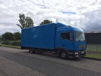 Man 7.5 ton truck sleeper cab with tail lift -make nice recovery truck