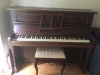 D'Almaine Piano. Upright Overstrung.