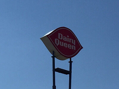 Reduced  Dairy Queen Exterior Advertising Lighted Sign Approx  L12 X H 6 X D2
