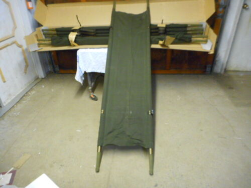 CASE LOT 4 NEW ARMY STRETCHERS/LITTERS ALUMINUM/CLOTH MASS CASUALTY/EMERGENCY