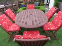 Garden Table and Chairs Plus cushions EXCELLENT CONDITION