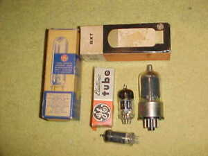 ANTIQUE RADIO VACUUM TUBES  (6)