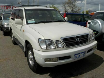 1999 Lexus LX470 /Landcruiser (4x4) White 4 Speed Automatic Wagon Victoria Park Victoria Park Area Preview