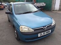 2001 Vauxhall Corsa 1.0, starts and drives very well, 1 years MOT (runs out September 2017), ideal f