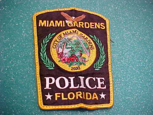 MIAMI GARDENS FLORIDA POLICE PATCH SHOULDER SIZE USED
