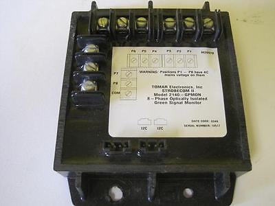 Tomar Strobecom Ii 2140 Gpmon 8 Phase Optically Isolated Green Signal Monitor