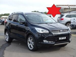2013 Ford Kuga TF Titanium PwrShift AWD Black 6 Speed Sports Automatic Dual Clutch Wagon Albion Park Rail Shellharbour Area Preview