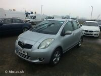 TOYOTA YARIS 1.3 06 ONWARDS PETROL BREAKING FOR SPARES TEL 07814971951 HAVE FEW IN STOCK
