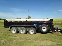 Fall cleanup? Triple Axle dump trailer for Rent